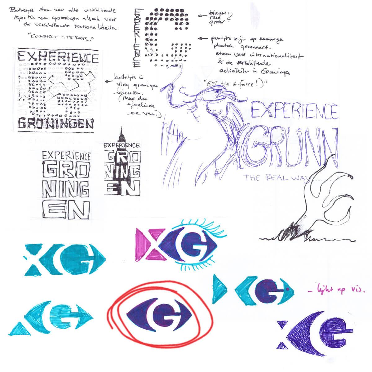 Schetsen voor het logo