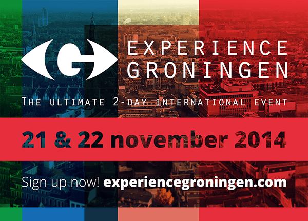 Flyer Voorkant Experience Groningen