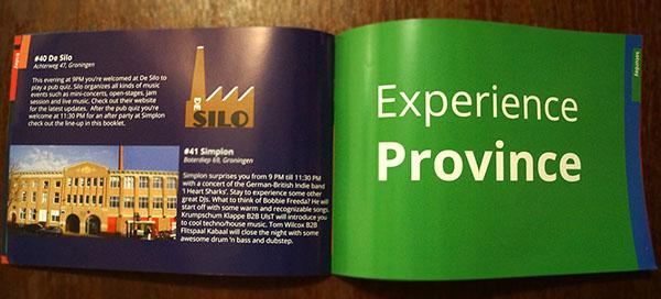 Folder ontwerp inkijkje Experience Groningen