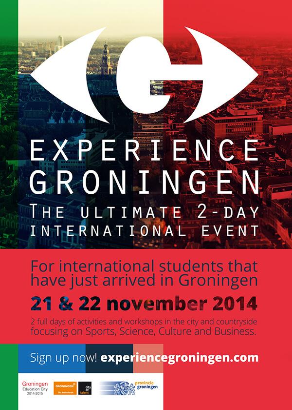 Experience Groningen Poster ontwerp