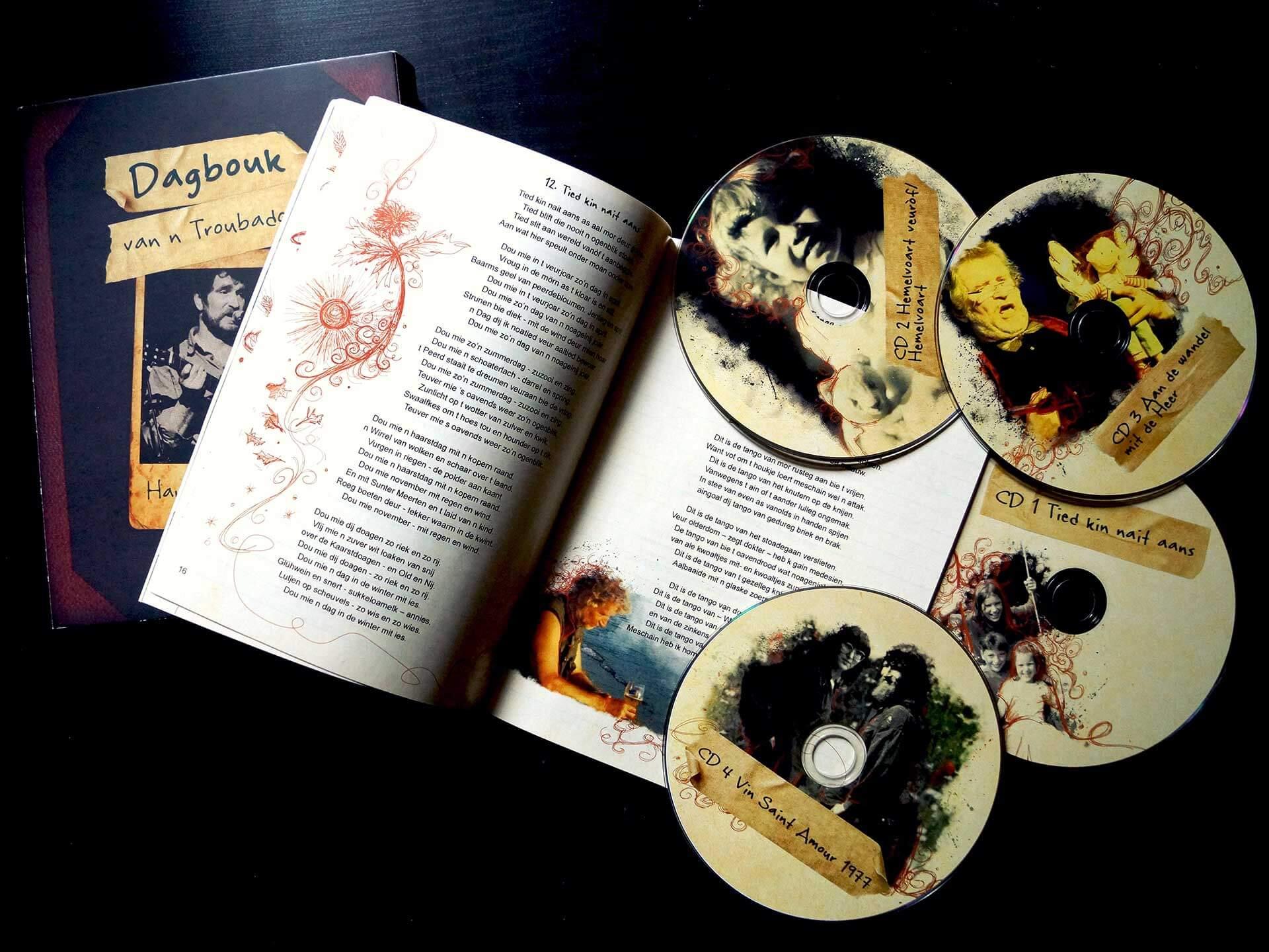 Dagbouk losse CDs en voorbeeld binnenkant boekje 2