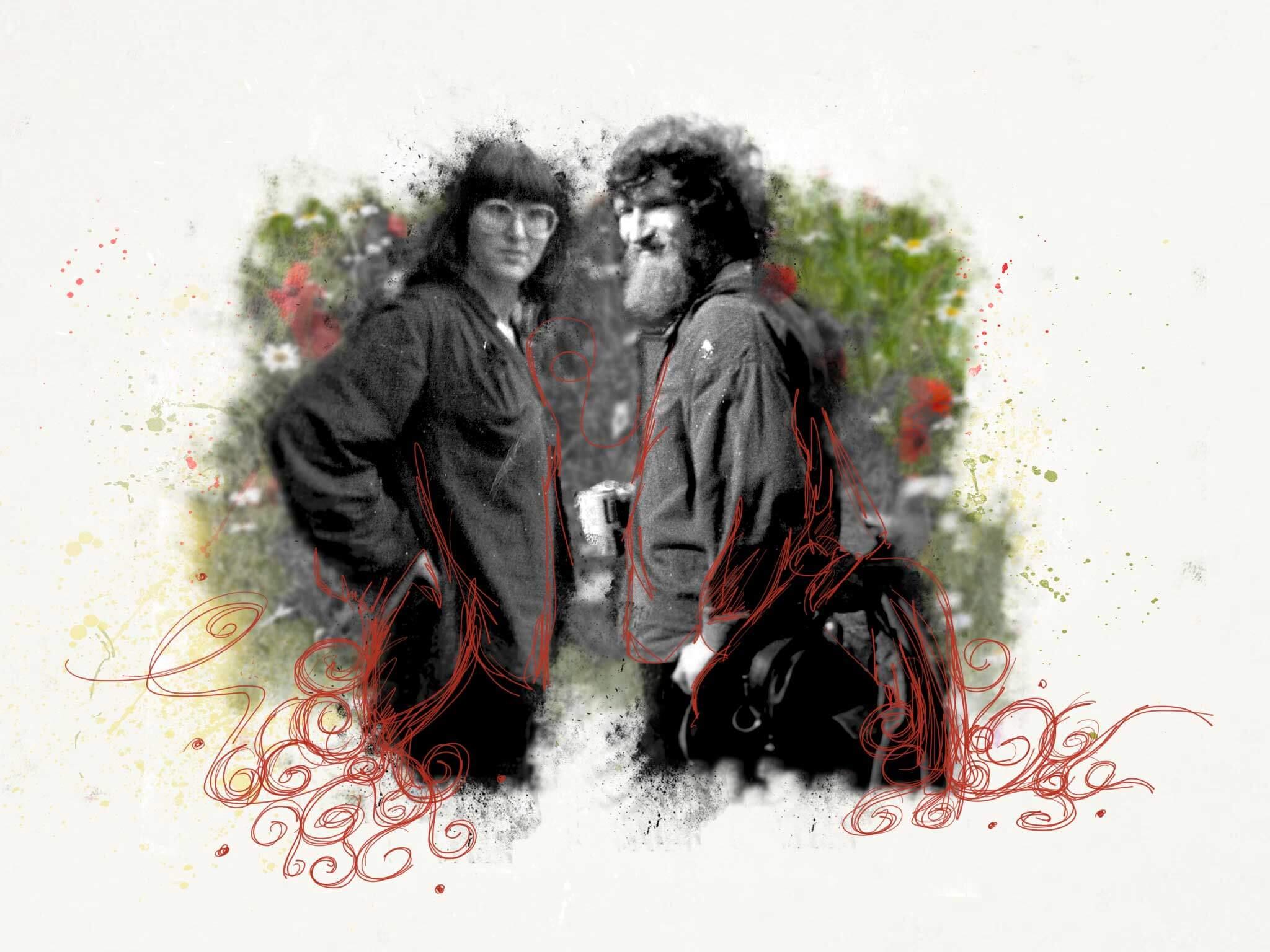 Schets Hans en Tinie Vin Saint Amour 1977