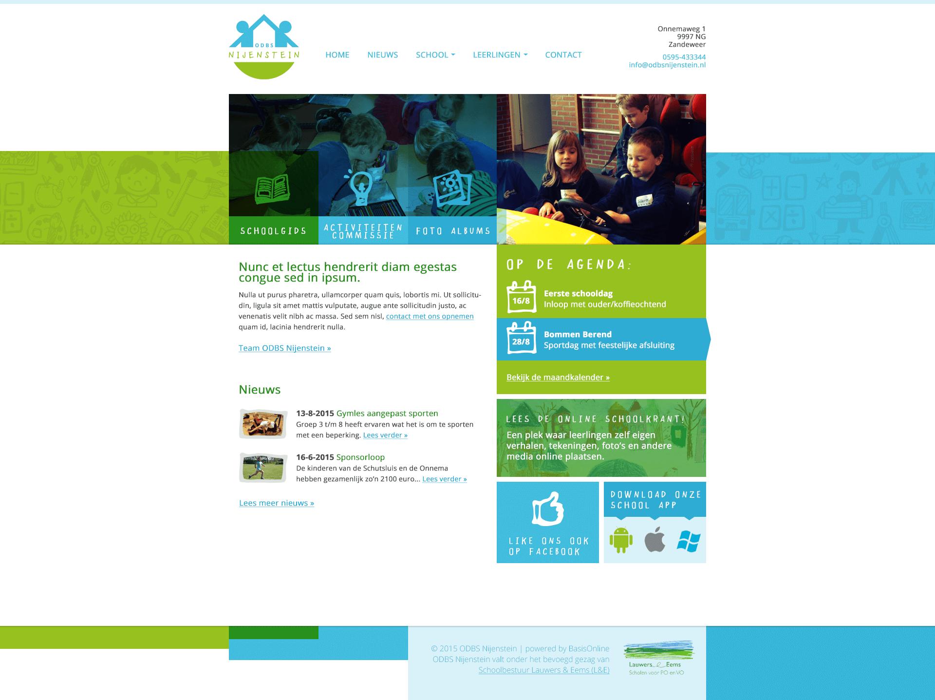 Nijenstein Homepage ONtwerp