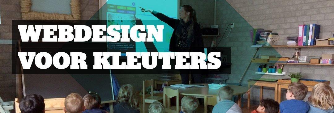 Webdesign uitleggen aan een kleuterklas
