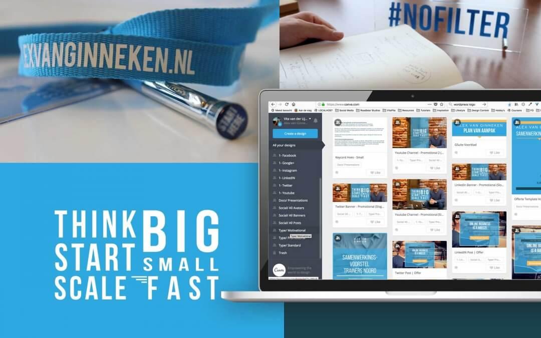 Alex van Ginneken – Huisstijl, logo en branding templates