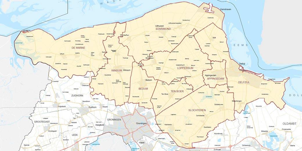 Kaart gebied EBG Kenniscafe
