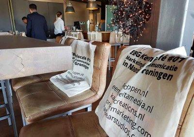 De goodiebags voor het event - bedacht en geregeld door ons