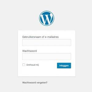 WordPress Inloggen Op Je Eigen Website - Inlogscherm