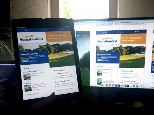 Golfclub Semslanden – Website Redesign & Golf Agenda