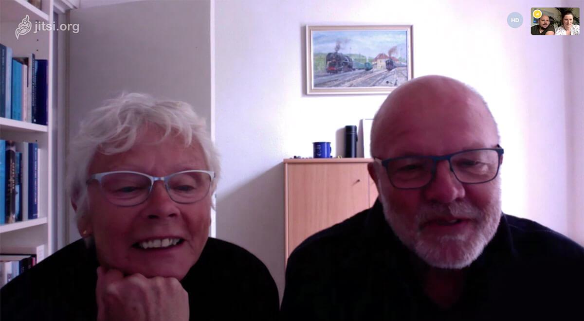 Opa en oma op Jitsi - gebruiksgemak - foto